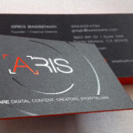 Edge color Foil Stamped Business Cards