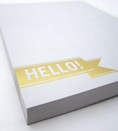 foil stamping notepads