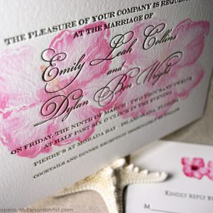 wedding-invitations-letterpress-tropical-flower